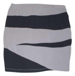 Material Girl Skirt Grey/Black