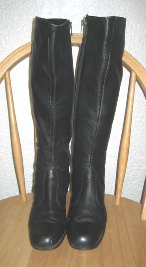 Bandolino Leather Vintage Tall Made In Italy Go-go Black Boots