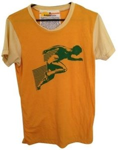 Aviator Nation T Shirt Orange, beige, and green
