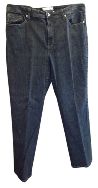 Item - Black Dark Rinse Straight Leg Jeans Size 18 (XL, Plus 0x)