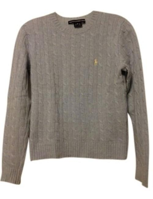 Preload https://img-static.tradesy.com/item/35401/ralph-lauren-light-blue-heather-wool-cable-knit-sweaterpullover-size-8-m-0-0-650-650.jpg