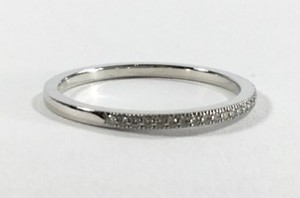 Tiffany & Co. Tiffany PT950 half diamonds ring