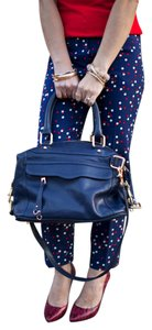 Rebecca Minkoff Leather Satchel in Navy