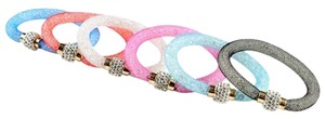 1 PC Women Crystals Bead Net Rhinetones Rondelle Magnetic Bangle Bracelets