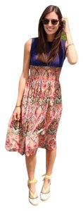 Navy And Multicolor Paisley Maxi Dress by Free People