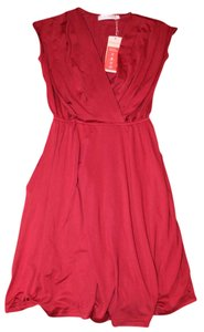 Allegra K short dress red Short Breezy Maxi on Tradesy