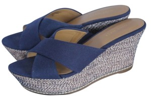 Nine West Blue Wedges
