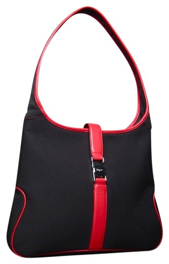 Preload https://item5.tradesy.com/images/salvatore-ferragamo-and-red-leather-hobo-black-canvas-shoulder-bag-3540754-0-0.jpg?width=440&height=440