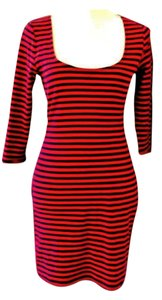 Betsey Johnson short dress Stripe Tailfeather Red on Tradesy