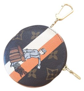 Louis Vuitton Louis Vuitton LIMITED TAKASHI -- GROOM ROUND Coin Purse Key Cles