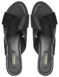 Park Lane Leather Cross black Sandals
