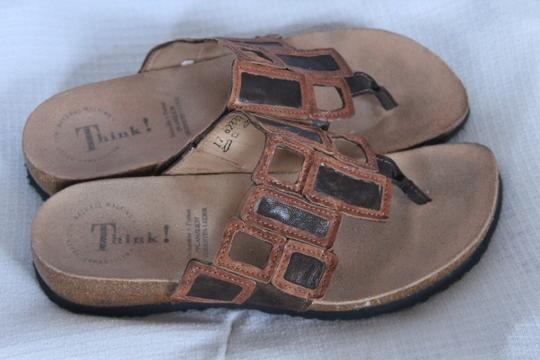Think Tank Think ! Tan and Brown Sandals