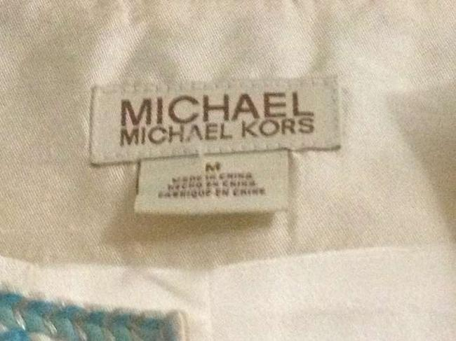 Michael Kors Ivory White Blend and Blue Jacket