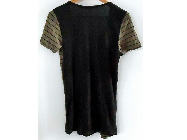 Splendid Tunic Striped V-neck T Shirt color-block