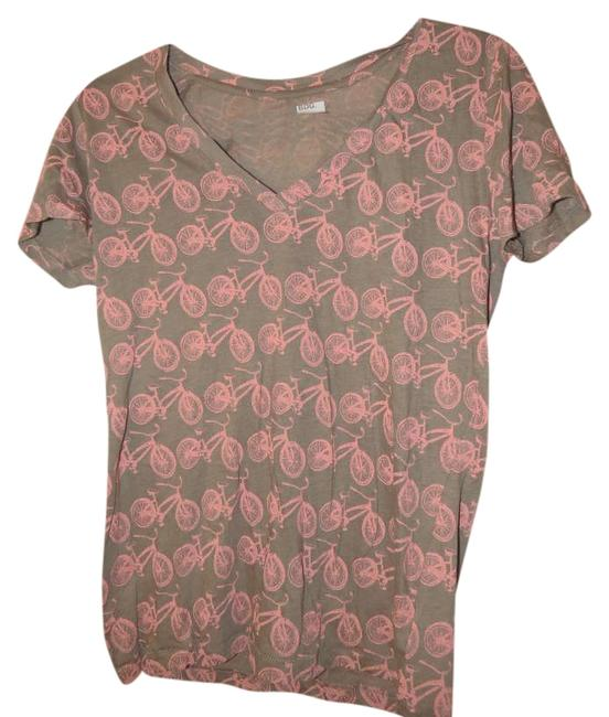 Urban Outfitters T Shirt Grey and light pink