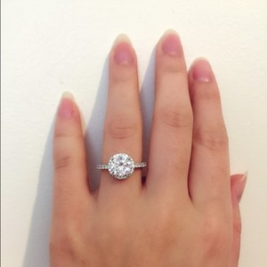 Sterling Silver 2 Cts Cubic Zirconia Ring