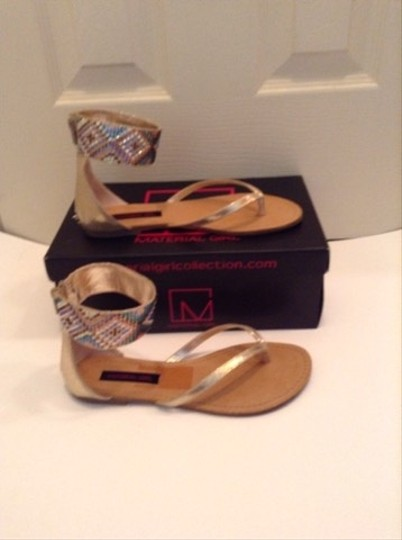 Material Girl Gold Multicolor Sandals