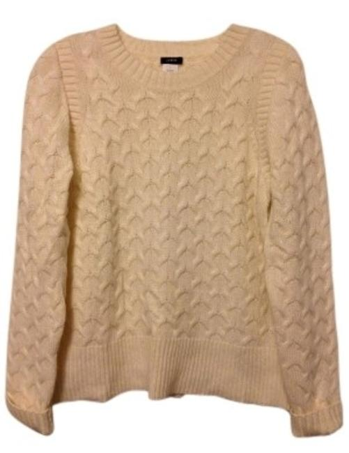 Preload https://item1.tradesy.com/images/jcrew-ivory-angora-blend-cable-knit-sweaterpullover-size-12-l-35420-0-0.jpg?width=400&height=650