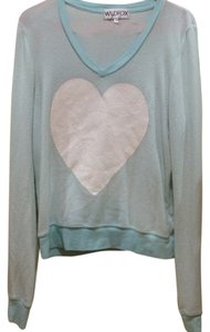 Wildfox Glitter V-neck Heart Sweater
