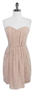 Rebecca Taylor short dress Blush Pink Silk Strapless on Tradesy