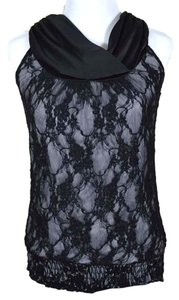Maurices Smocked Twisted Top black lace