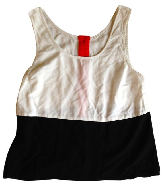Guess Top White, Black and Salmon