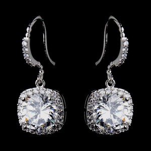 Elegance by Carbonneau Silver Stunning Cz and Formal Earrings