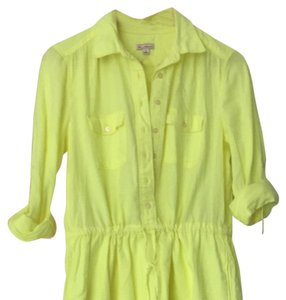 Gap short dress Neon Yellow on Tradesy