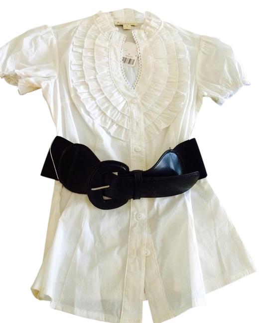 Forever 21 Top White With Black Belt