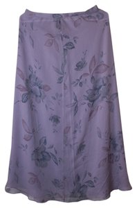 Lilac Floral Print Maxi Dress by Jones New York Silk