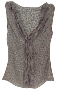 Elie Tahari Top White & Gray