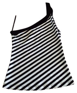 Bodyshop Top Light Blue/Black Stripe