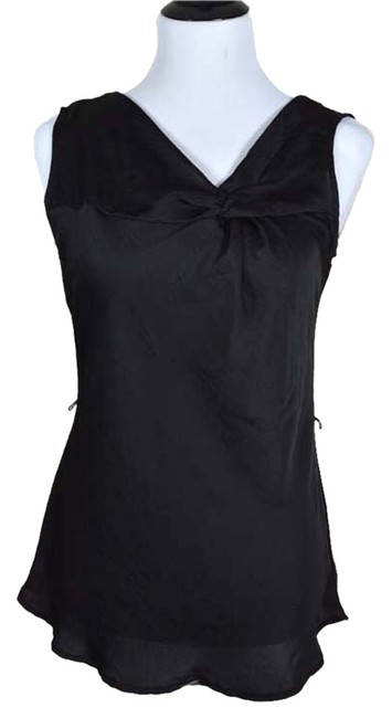 Maurices Asymmetrical Knot Long Textured Top black