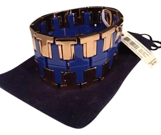 Tory Burch New with tags! Tory Burch Wide T Metal and Resin Stretch Bracelet