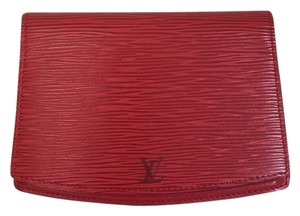 Louis Vuitton Epi Leather Red Clutch