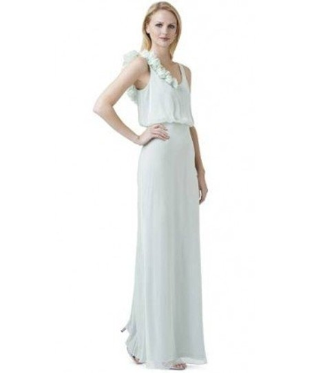 Adrianna Papell Honeydew Chiffon Rosette Blouson Gown Feminine Bridesmaid/Mob Dress Size 2 (XS)