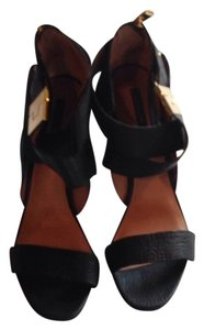 Rachel Zoe Black/Gold Heel Sandals
