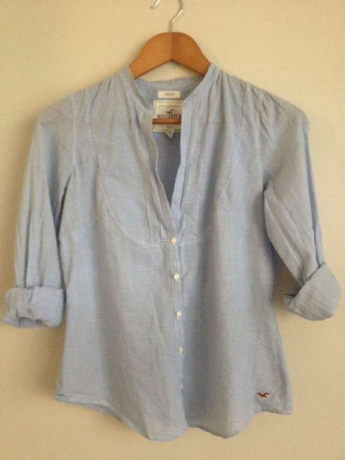 Hollister Button Down Shirt Blue striped