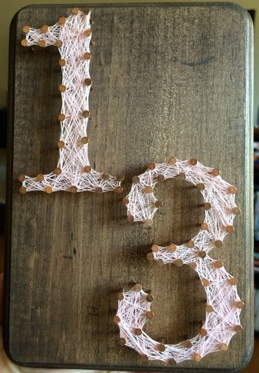 Blush Pink String Art Table Numbers