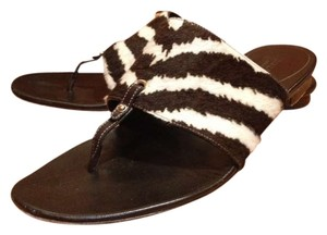 a0ad29c21 Gucci Zebra Print Ponly Hair Thong black   white Sandals