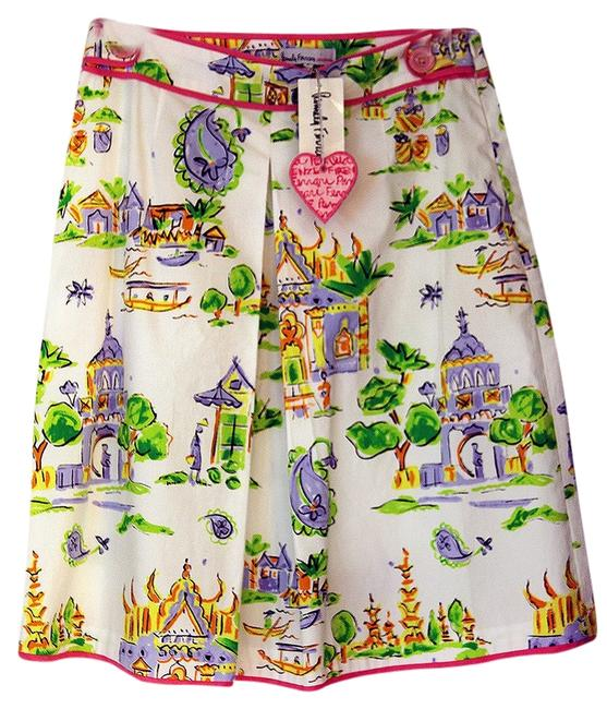 Pamela Ferrari Chinoiserie Mini Skirt Multi-color