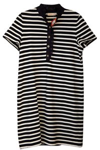 Tory Burch short dress Navy and white Nautical Stripes on Tradesy