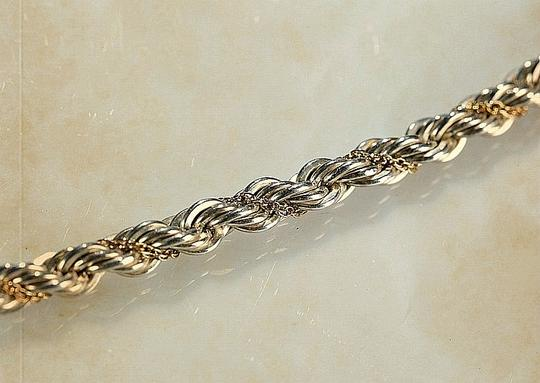 Tiffany & Co. Tiffany & Co. Sterling Silver & 18K Gold Twisted Rope Chain Necklace