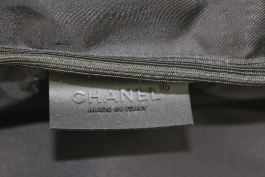 Chanel Keepall Duffle Luggage White, Black Travel Bag
