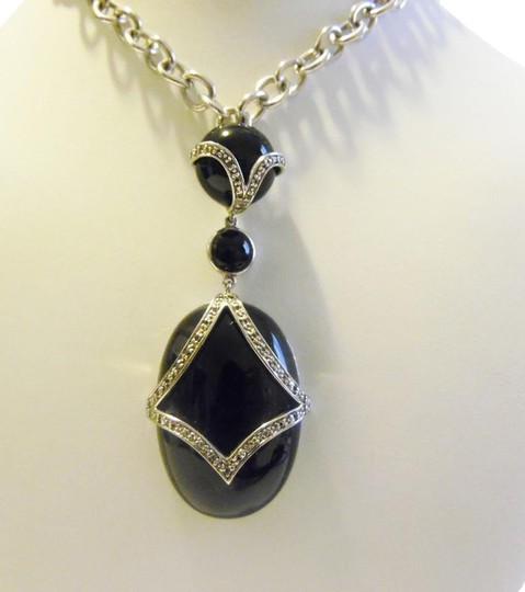Preload https://item4.tradesy.com/images/colleen-lopez-925-big-and-bold-black-onyx-enhancer-without-chain-necklace-3545428-0-1.jpg?width=440&height=440