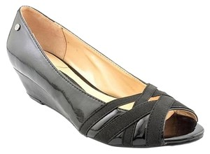 Dana Buchman Katma Patent Leather black Wedges