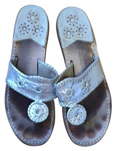 Jack Rogers Silver Flats