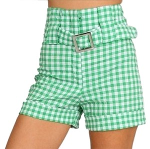 Meeting Dress Shorts green white
