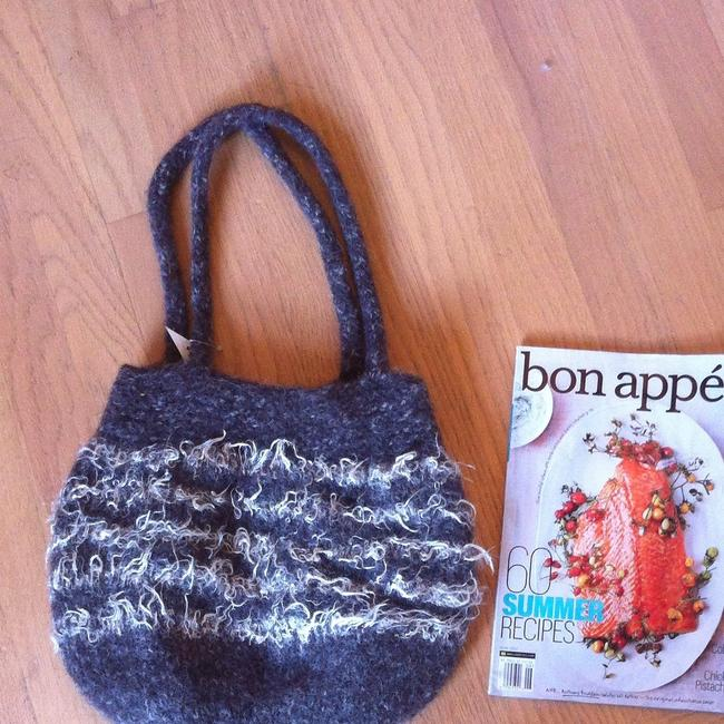 Item - One Of A Kind Art Gray with Cream Hobo Bag