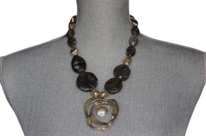 Chico's Gold and Gray short necklace
